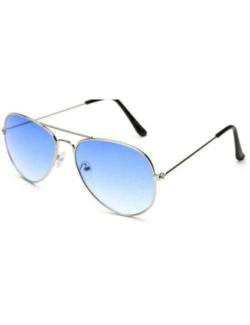 f3c82e3e9d Blue Shade Aviator Flat Goggles Unisex