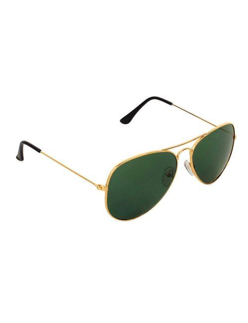 0ca3d50eb6d Adam Jones Green Aviator Sunglasses for men and women (Golden Frame with  Gradient Lens)