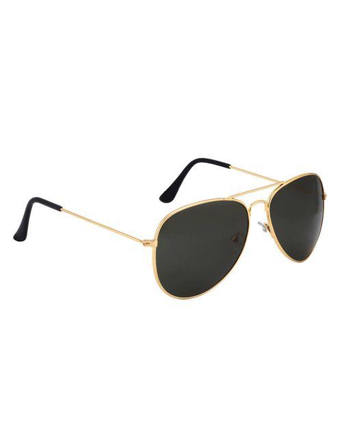bce5acedf4c Adam Jones Black Gold Aviator Unisex Sunglasses for Men and Women (Golden  Frame with Black Lens)