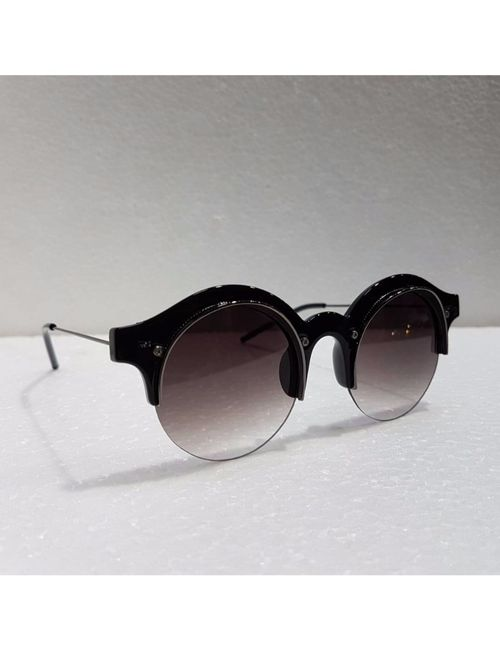 fd13840aa1 Sunglasses round big black frame and brown type glass for man and ...