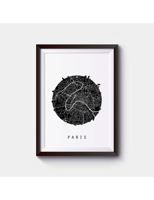 Paris Map Italy Map Europe Map Black And White Map Minimalistic