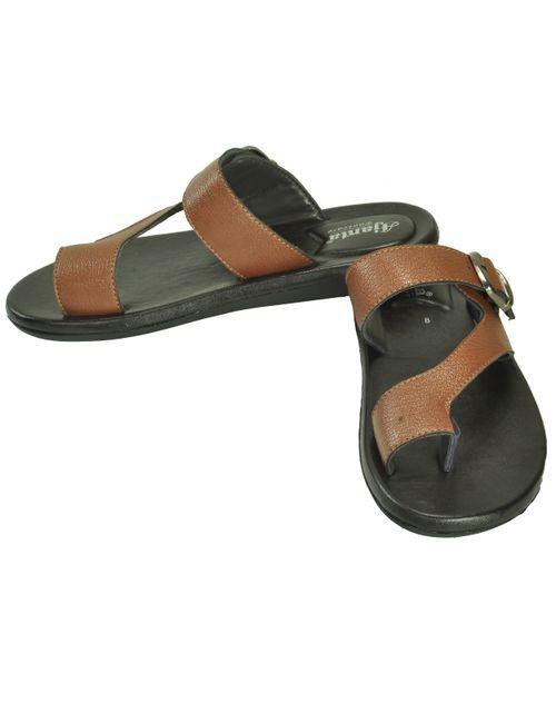 97b3c57c38c7 Ajanta Men s Classy Sandal Slipper - Black Brown