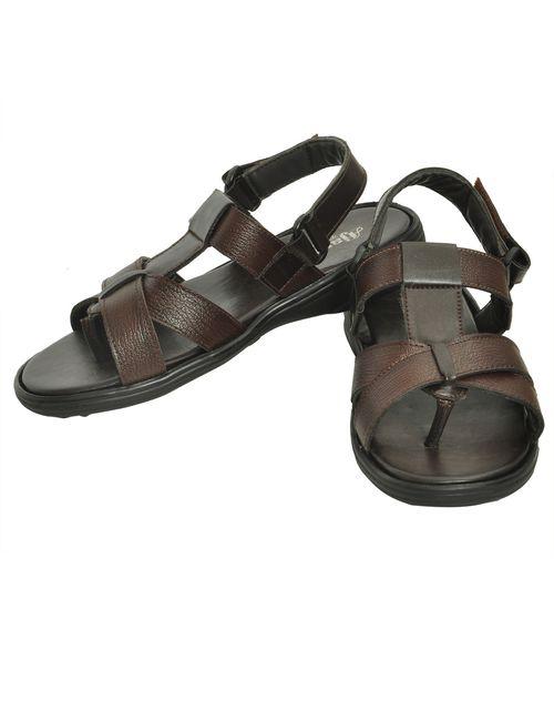 b814aa064f8b Ajanta Men s Classy Sandal Slipper - Brown