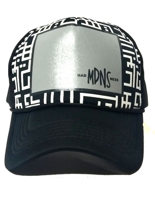 7f2521fd362 FRIENDSKART Printed MDNS Printed In Black Colour Half Net Cap ...