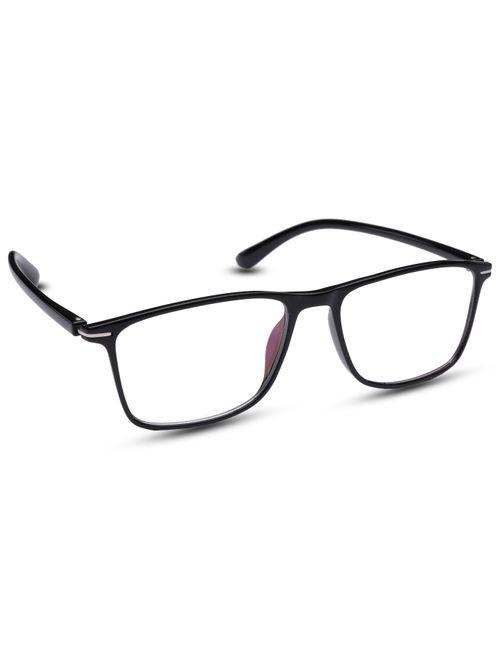 ac8f8784e9 REACTR- Computer Glasses Rimless Rectangular Eyeglasses Premium Spectacle  Full Frame Eyeglasses For Men women -- Size  Medium