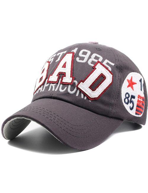 6cedc0f93b2 Novasox Unisex BAD Crest Logo Adjustable Baseball Cap