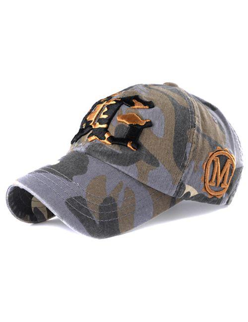 1190a766e67 Novasox Unisex YG Embroidered Camo Baseball Cap Hat Grey
