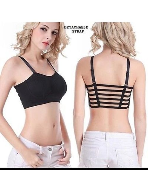 d6901119e1e 6 Strap Black Padded Bralette Push-up Girl s bra ( removable Pads)- (Free  Size- 28-36)
