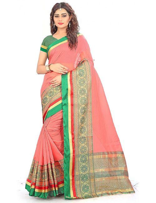 701fe414e92a8c Ak Enterprise New collection cotton silk saree for women with blouse piece ( Jacquard pattern)