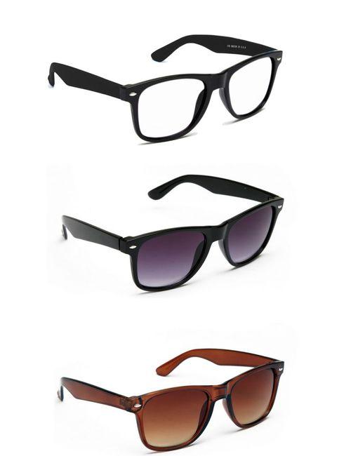 16b2fda6d50 lime offers combo set of 3 wayfarer sunglasses