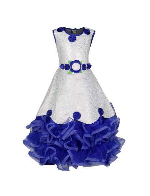 f4dcb20ee KBKIDSWEAR Girl s Net Floral Print Party Wear Frock 20