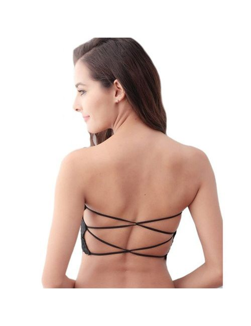 8dcb5c65692df Sexy Women Girls Lace Tank Tops Bustier Padded Bra Vest Crop Top Bralette  Blouse