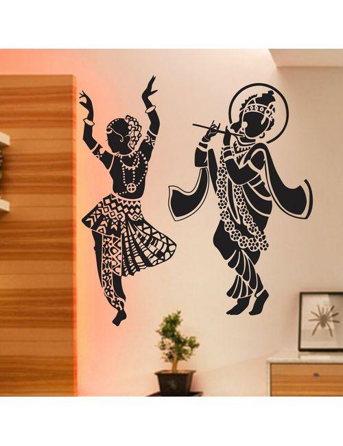 dancing radha krishna wall sticker