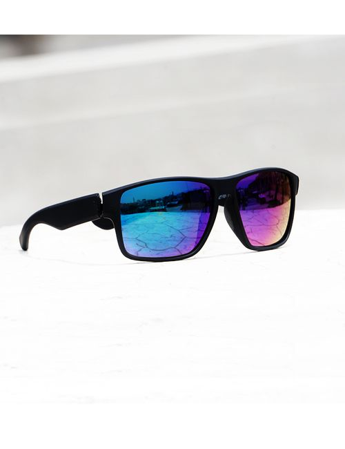 f624e70adeb Skygge Original Black Frame Mirror Blue Lens Sports UV Protected ...
