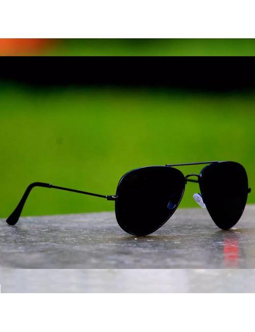 04c731b5b7 Skygge Original Aviator Black Frame Black Lens UV Protected Unisex  Sunglasses