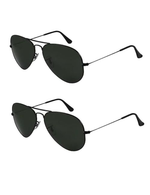 ceaa0d0129 Skygge Original Unisex Combo Of Two Aviators UV 400 Protected ...