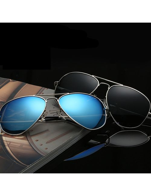 74b19b1920 Skygge Original Unisex Combo Of Aviators UV 400 Protected Polycarbonate  Black And Sea Blue Colour Sunglasses With Silver Frame Material Cellulose  Acetate