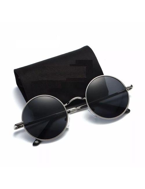 86e681d775 Skygge Original Unisex Round Sunglasses UV 400 Protected Polycarbonate  Black Colour Sunglasses With Silver Frame