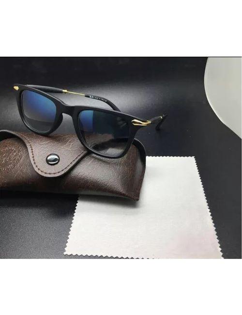 43363a9df93 Skygge Original Unisex Wayfarer HD Vision Polycarbonate Black Colour  Sunglasses With Black Frame Material Cellulose Acetate