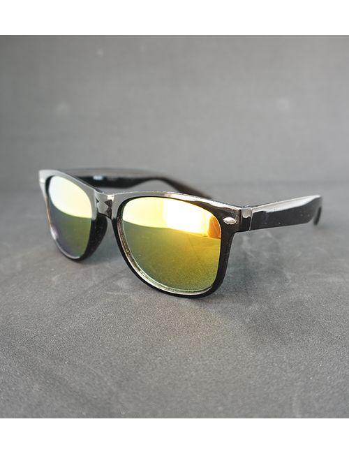 749d631bc6 Skygge Original Wayfarer Yellow Mirror Lens Black Shiny Plastic Frame UV  Protected Unisex Sunglasses