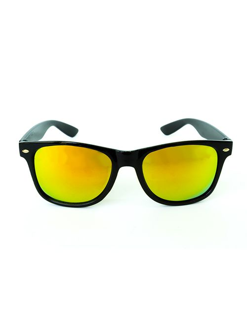 83ad7d80a0 Skygge Original Wayfarer Yellow Mirror Lens Black Shiny Plastic ...