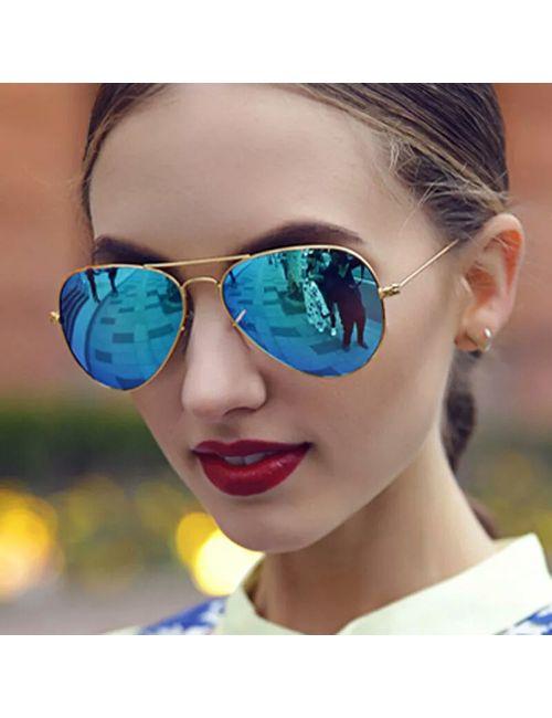 f7460081f0165 Tready new stylist blue golden aviator sunglasses for men and women