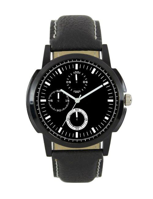 74d7de60c2a Latest black mens lorem designed leather belt watch lorem