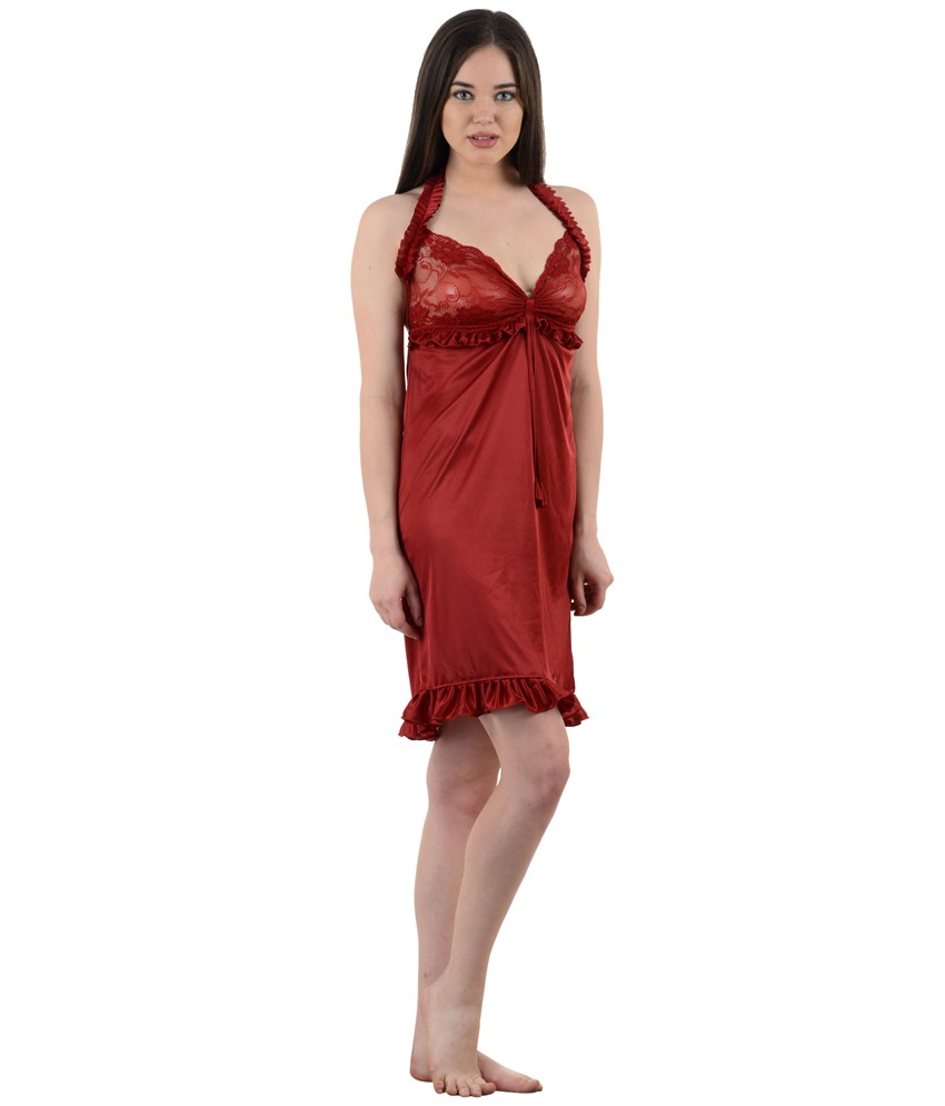 American-Elm Women s Stylish Sexy Nighty- Pack Of 3 9fa6a9225