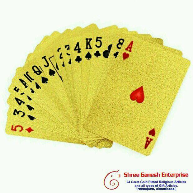 Casino Club Spielkarten Vergoldet