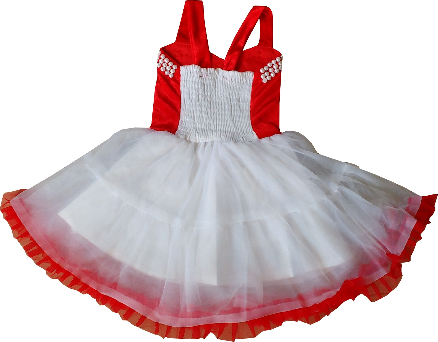 5d7bbbde0 Cute Fashion Kids Girls Baby Princess Red Party Wear Flower Dresses ...