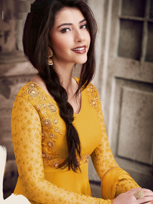 f2da9e1a07e8 Viha Faux Georgette Embroidery Semi-stitched Anarkali Salwar Suit