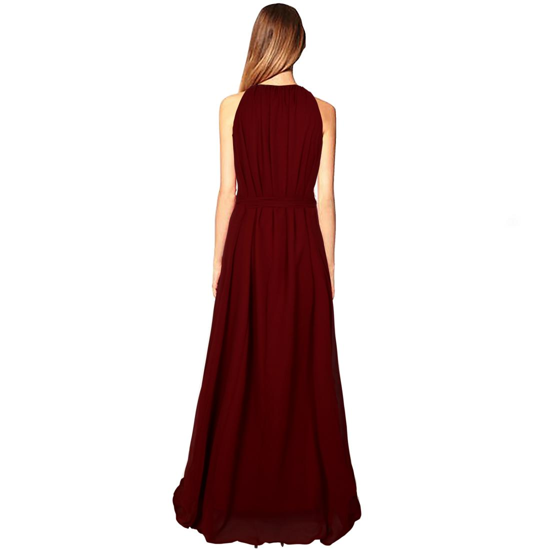bdda45ea2 Viha Georgette Maroon Fit And Flare Long Dress