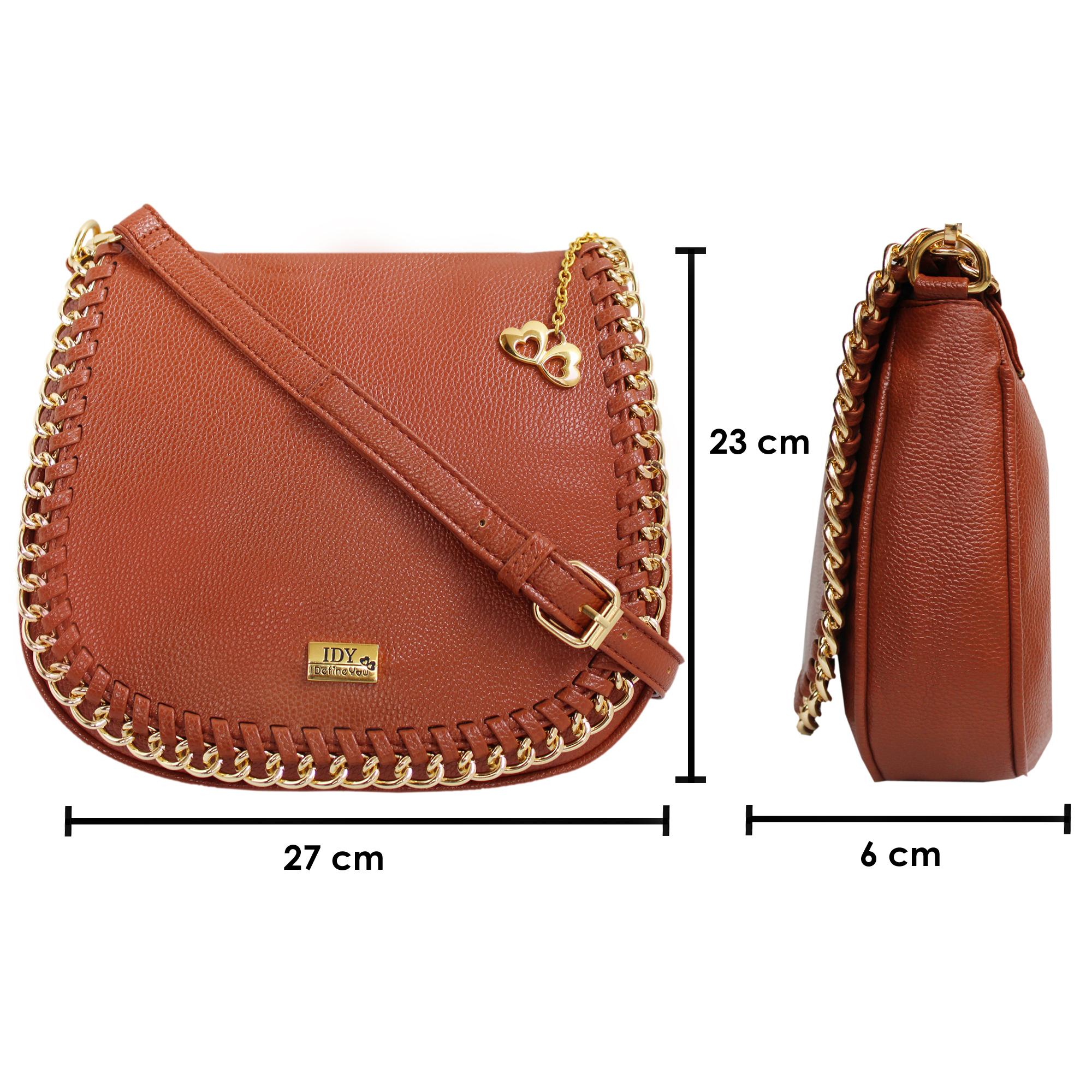 5bf984035eb3 Anglopanglo Brown Color Women s Sling Bag