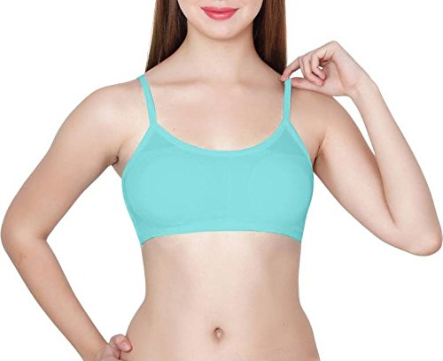 5b48b2666e6a54 HIE N BUY 6 Straps Back Padded Bralette Bra Removable Pads Size   FREE B  28-36 ( LIGHT-BLUE )