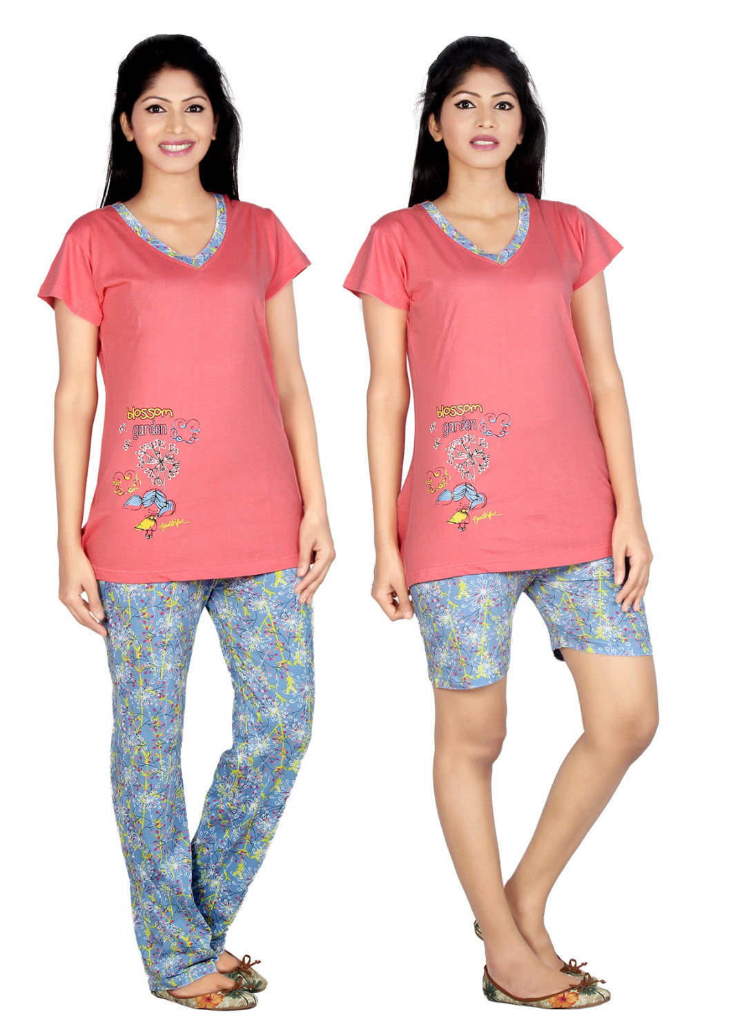 782c095c3695a2 Carrel Imported Cotton Hosiery Fabric Printed Round Neck Top