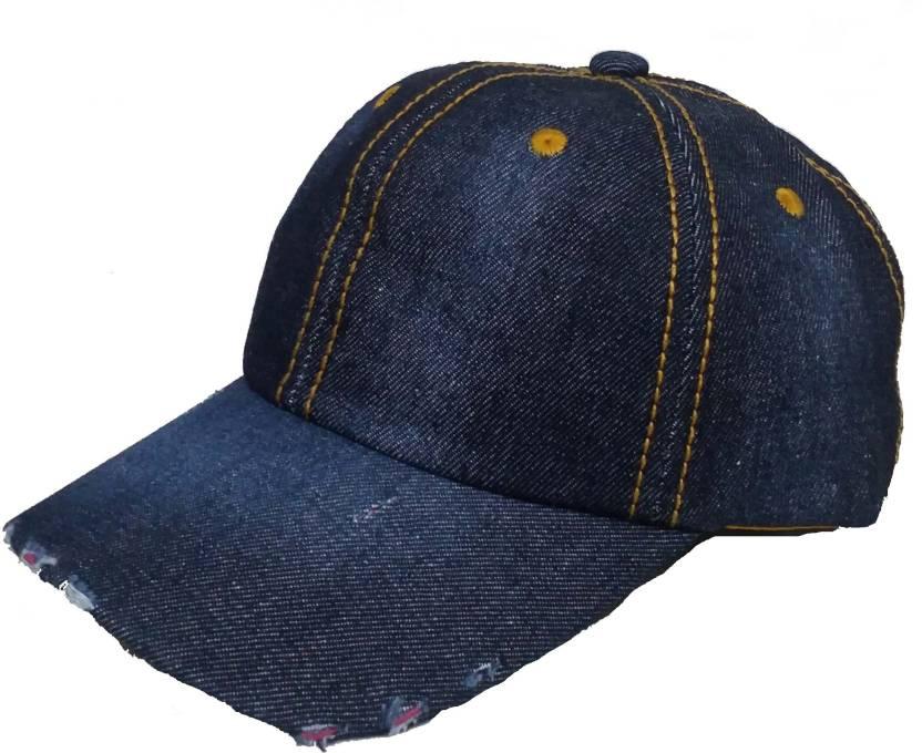 cae073967d1 Alamos Self Design Dark Blue Hard Cotton Cap