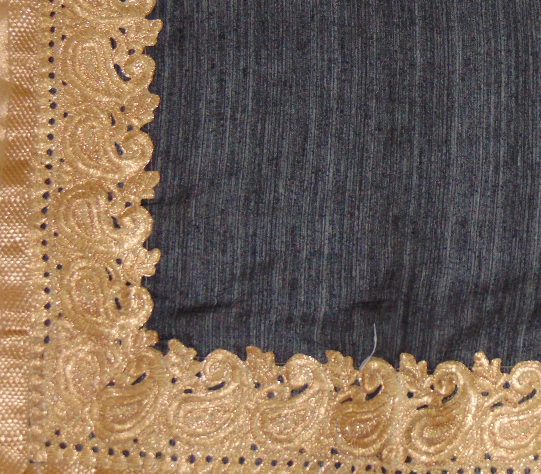 7c67a84e52 Viukart Black Party Wear Linen Saree