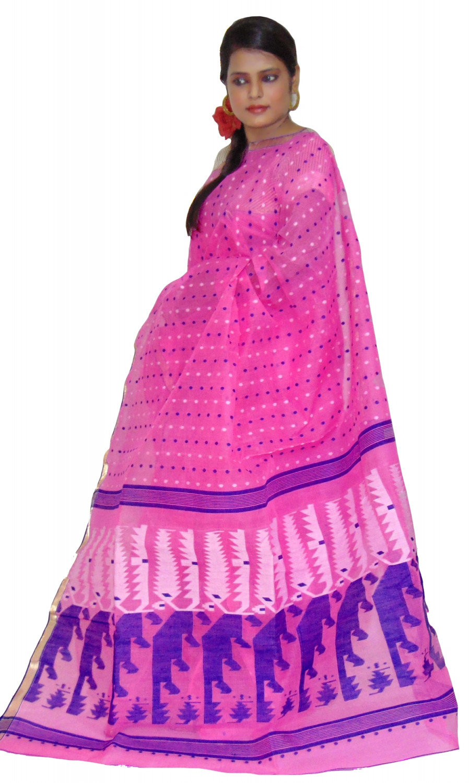 5487e7c9e2 Viukart Purple Self Design Cotton Handloom saree