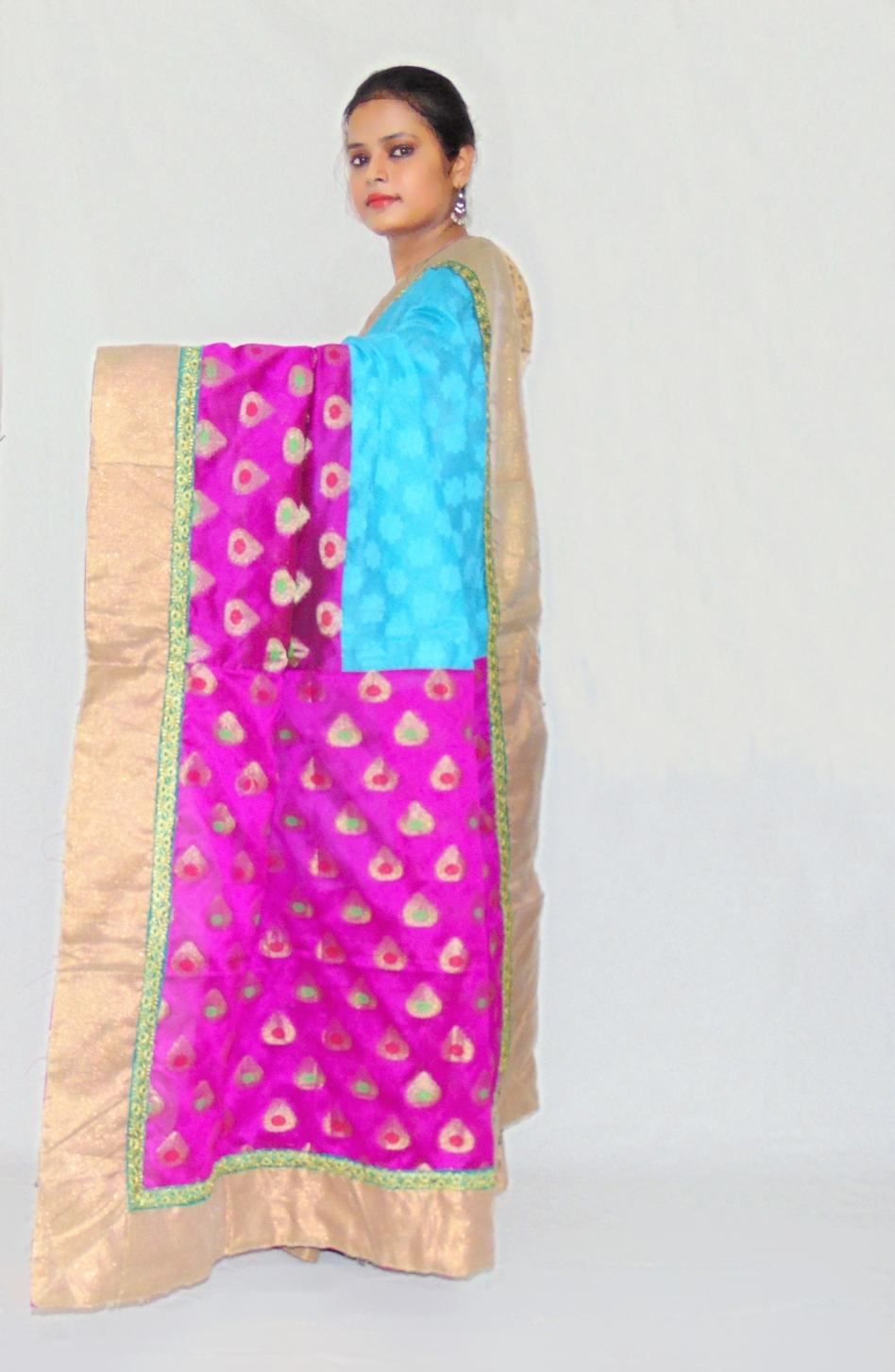 b6733850b1 Viukart Designer Party Wear Cotton Patola Saree