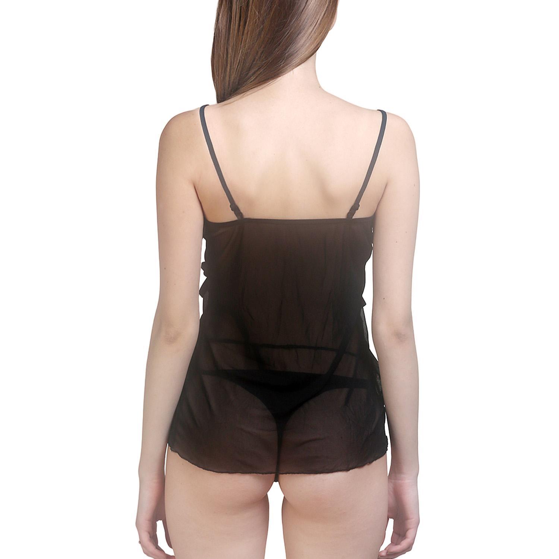 54c62d073d ShopLuvOnline Hot Sexy Women Lingerie Mini Babydoll Honeymoon Sleepwear  Strap Black Lace Dress