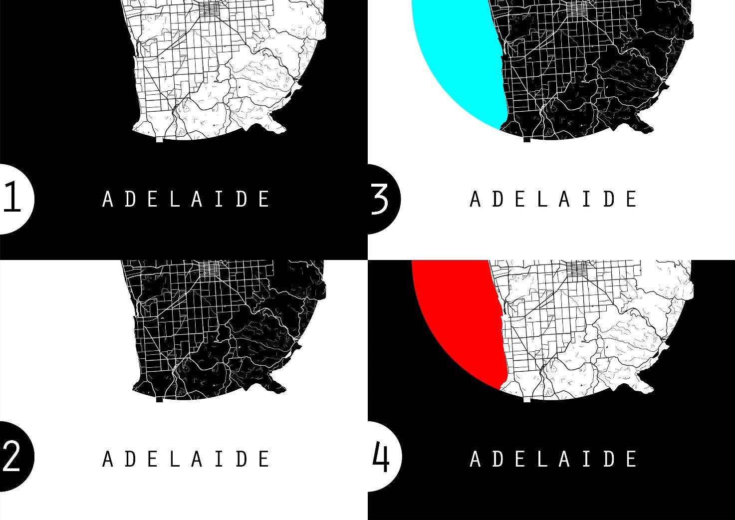Adelaide Map Australia Map World Map Maps Poster Wall Art Wall