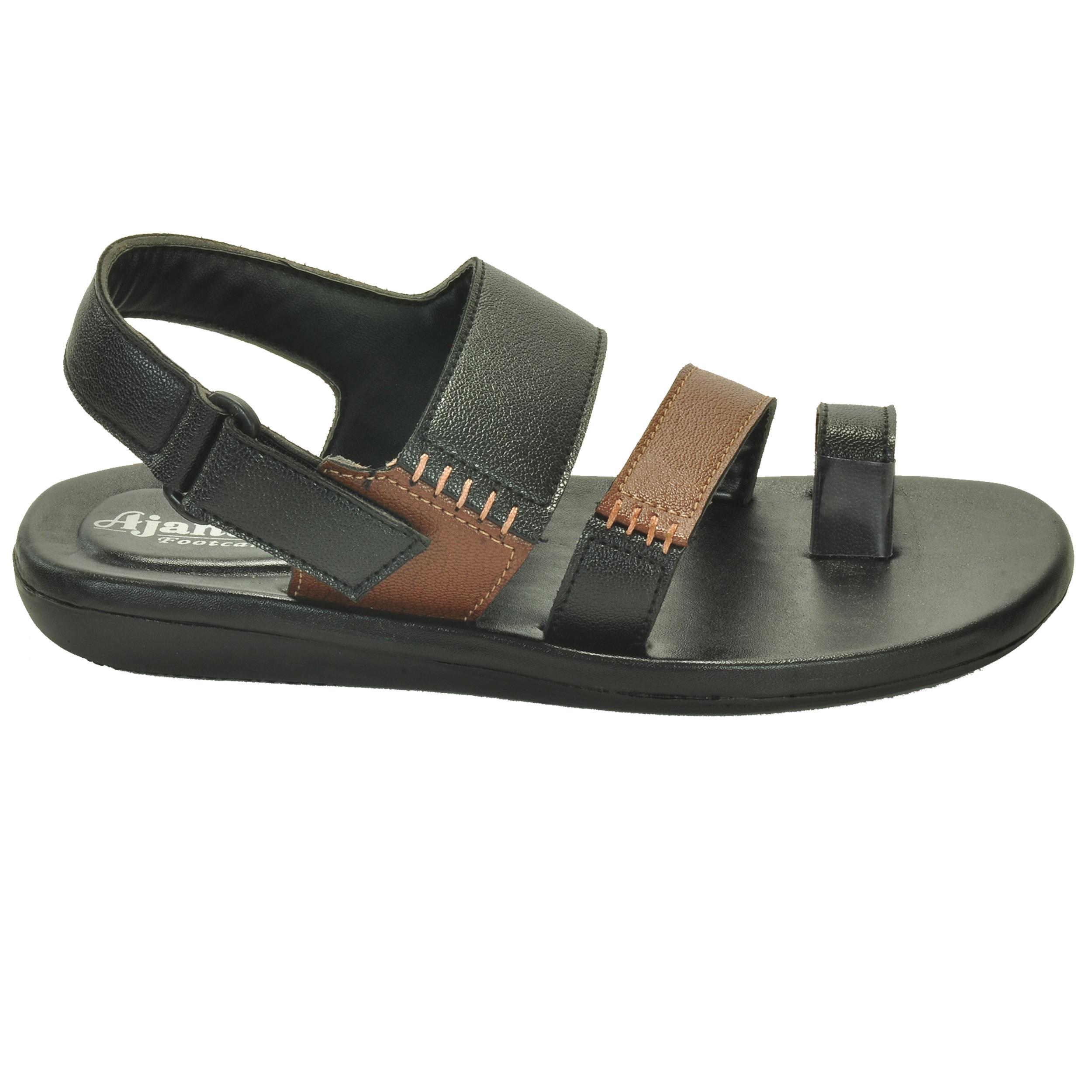 f35b332f8c26 Ajanta Men s Classy Sandal Slipper - Black