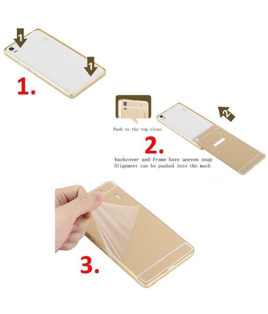 Apple Iphone 7 Metal Finish Mirror Bumper Back Cover Case Golden Samsung Note 4 Backcase With Aluminium Black