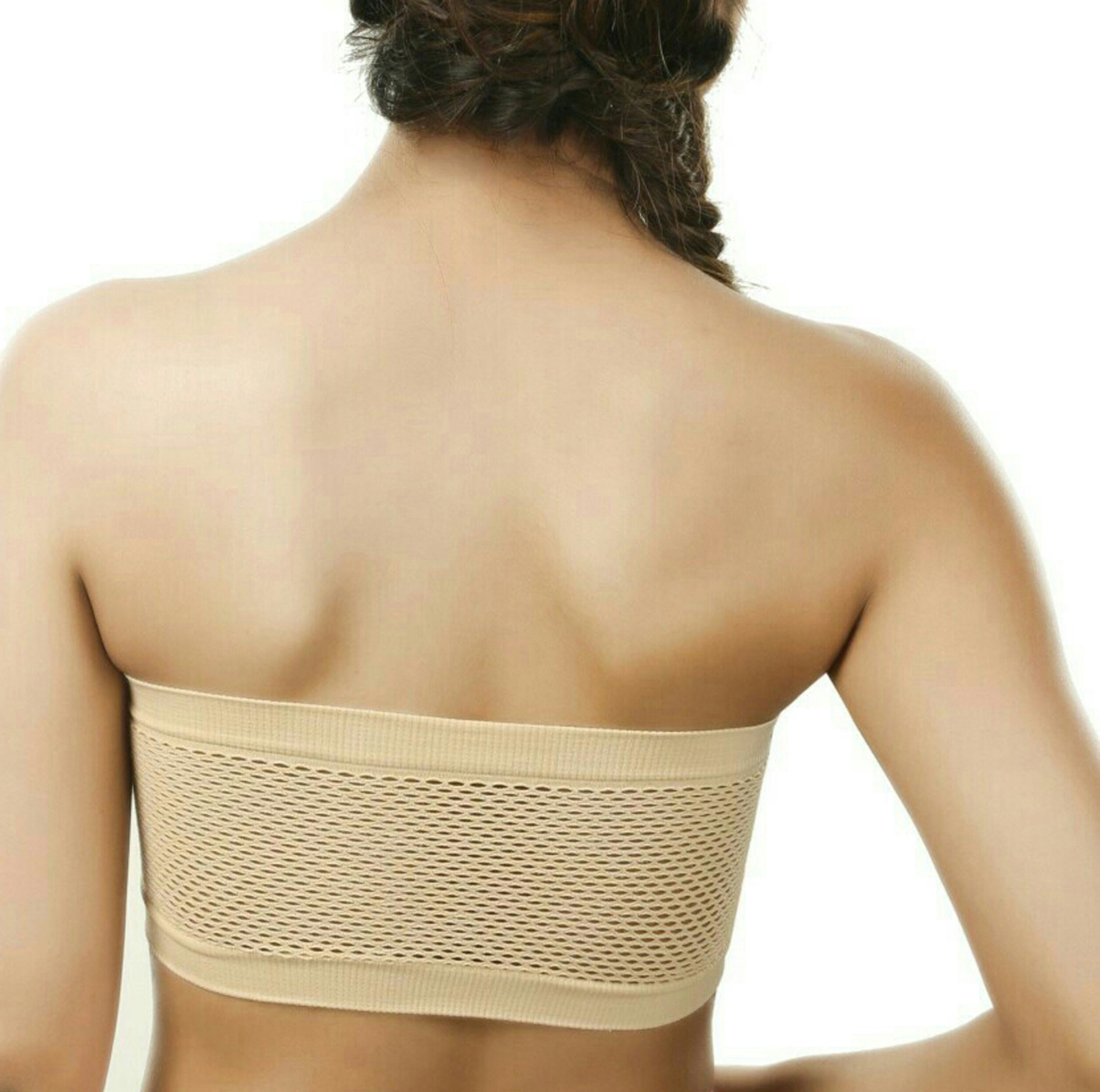 b27ac2589a0 Chileelife 1739 Wirefree Non-padded Strapless Bra Combo (Pack Of 2)