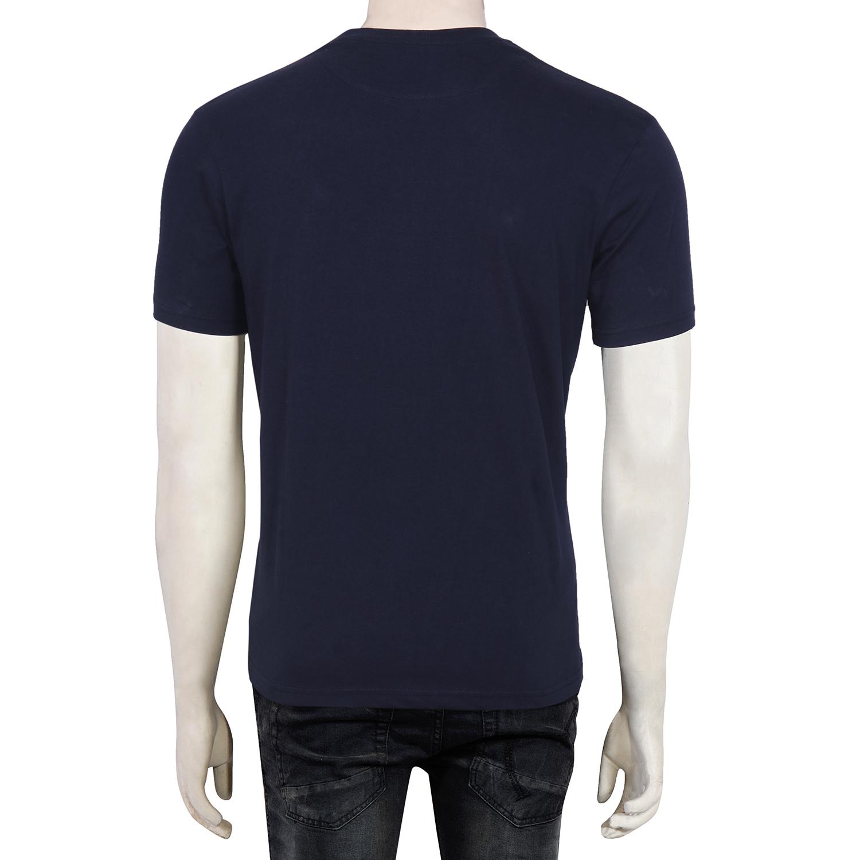 11ddd3171db Gentle Men s Club  Runner Series - Navy Blue Men s 100% Cotton Round Neck  Half Sleeve Solid T-Shirt