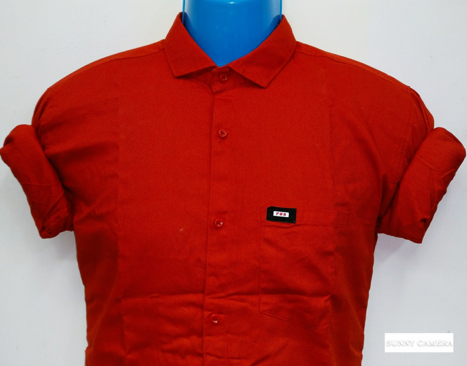 Latest Plain Cardinal Red Slim Fit Shirt For Men