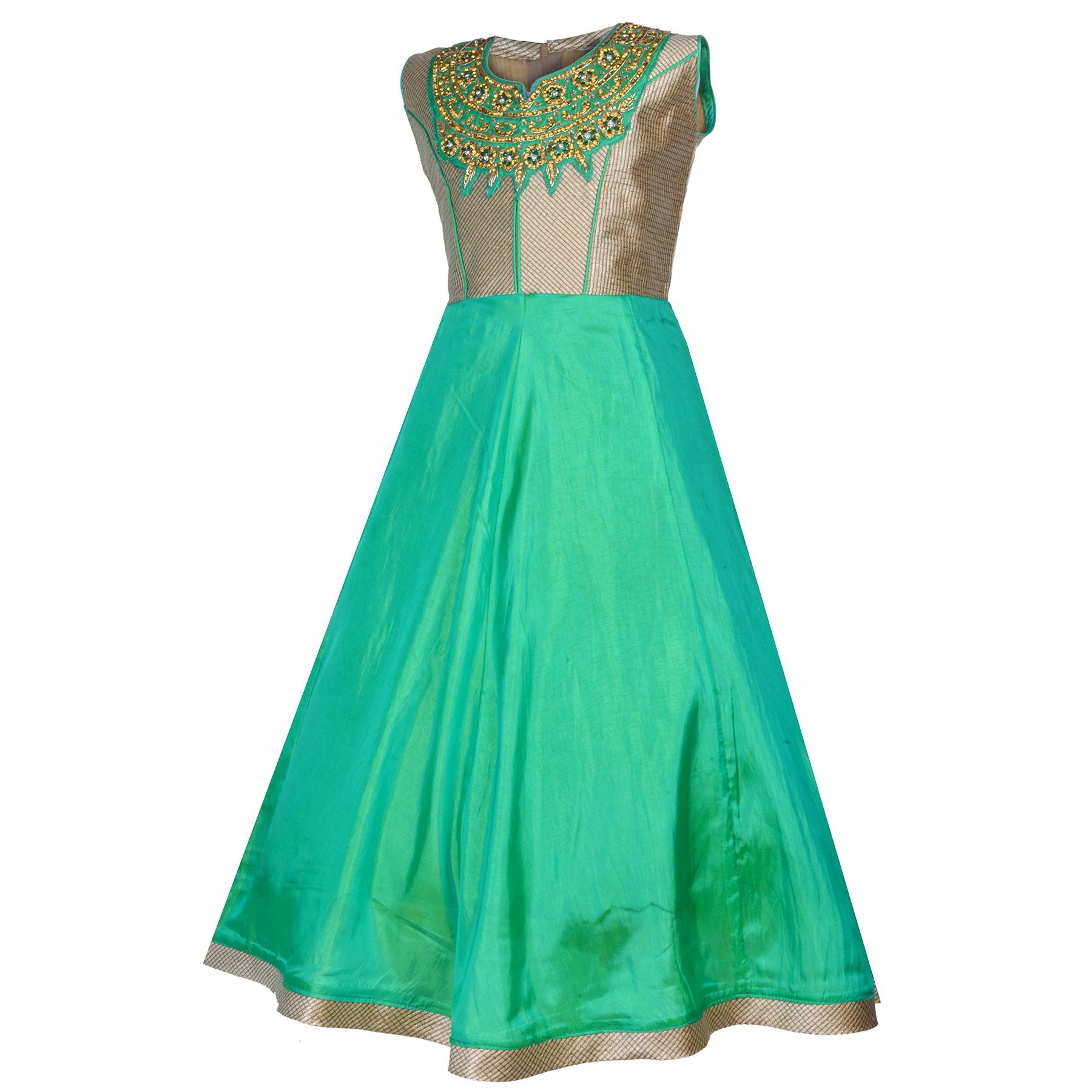 b13509706292 KBKIDSWEAR Girl s Embroidered Design Party Wear Premium Net Gown (3 ...