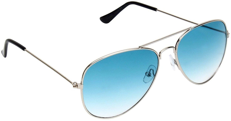8b254d60728 Skygge Original Unisex Combo Of Silver Frame Sea Blue Lens Aviator And  Black Frame Black Lens Wayferer UV 400 Protected Polycarbonate Sunglasses