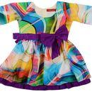NAICHI VELVET MATERIAL A LINE BABY GIRL DRESS