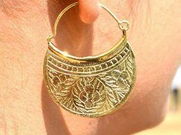Golden Bag Style Earring